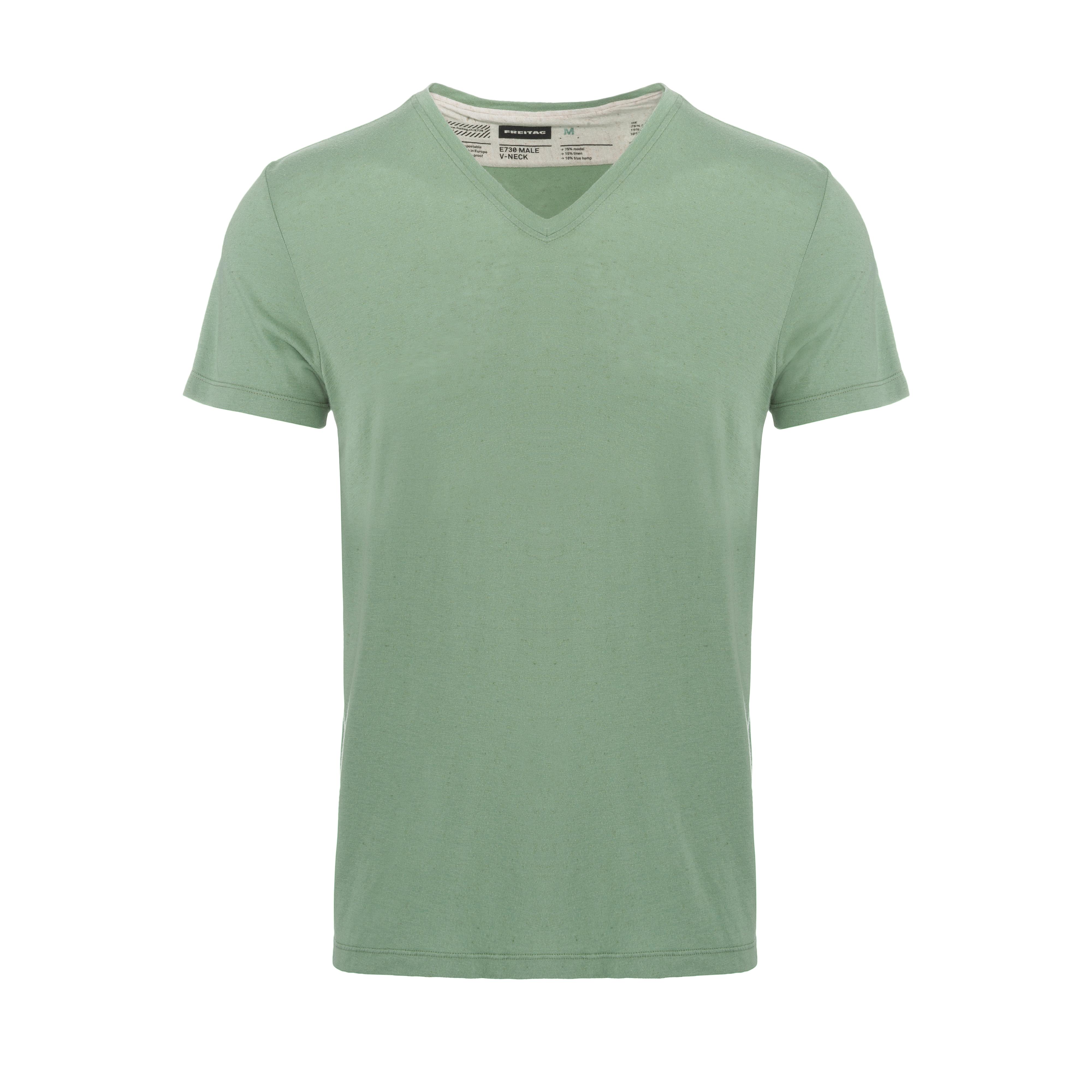V-Neck T-Shirt Industrial Green