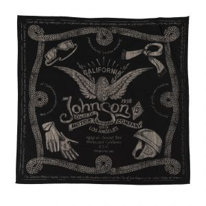 Winged Wheel Bandana Black
