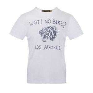 Wot No Bike T-Shirt Optic White