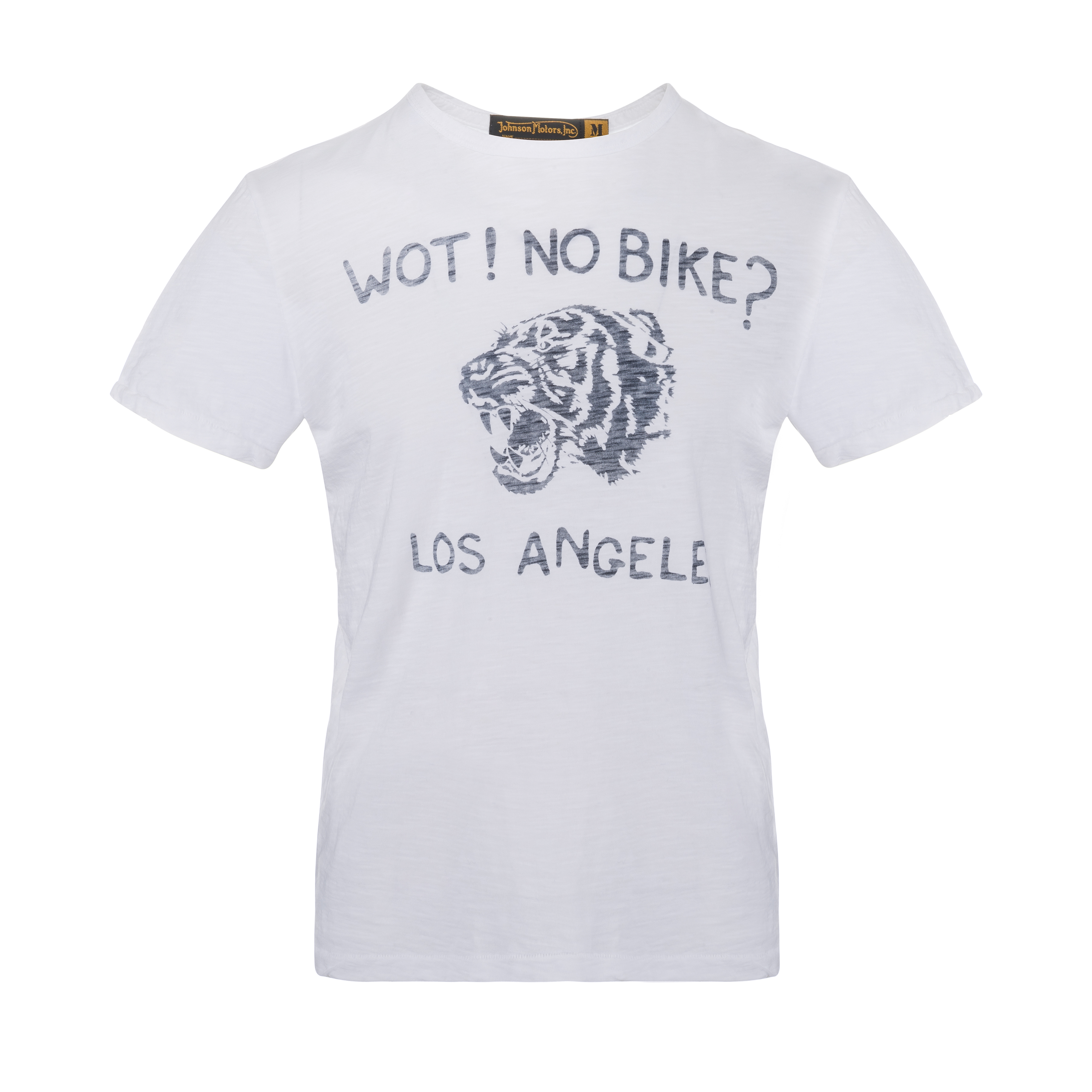 Wot No Bike T-Shirt Optic White