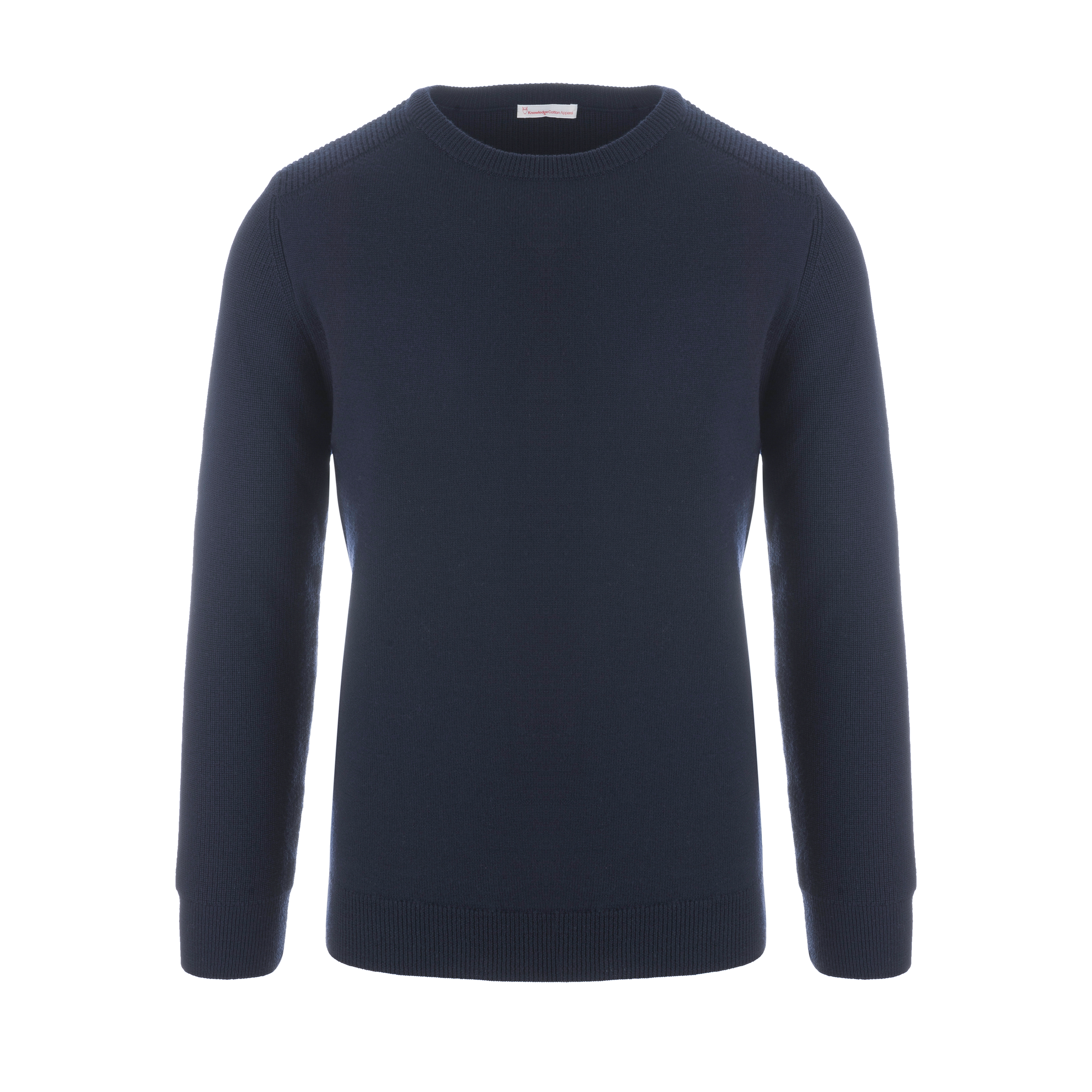 Two Pattern Combi Crew-Neck Pullover Total Eclipse