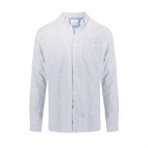 Solid Flannel Shirt Grey Melange