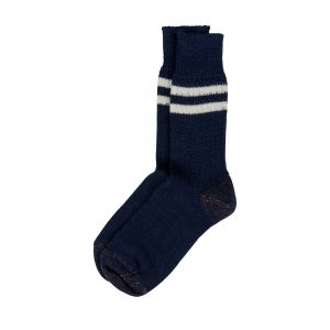Pure Organic Wool Socks S75 Navy/Nature