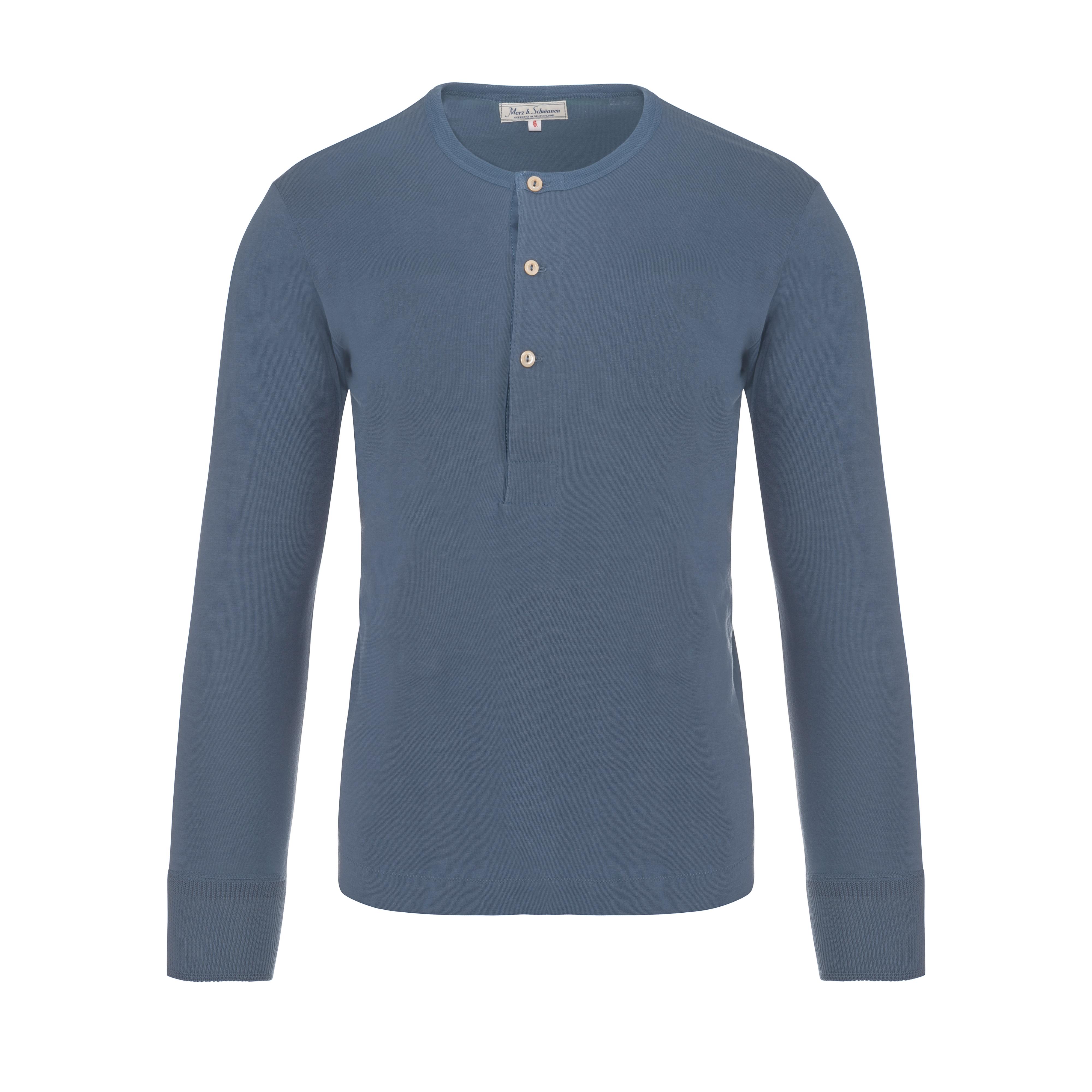 Henley 206 Longsleeve Blue Grey