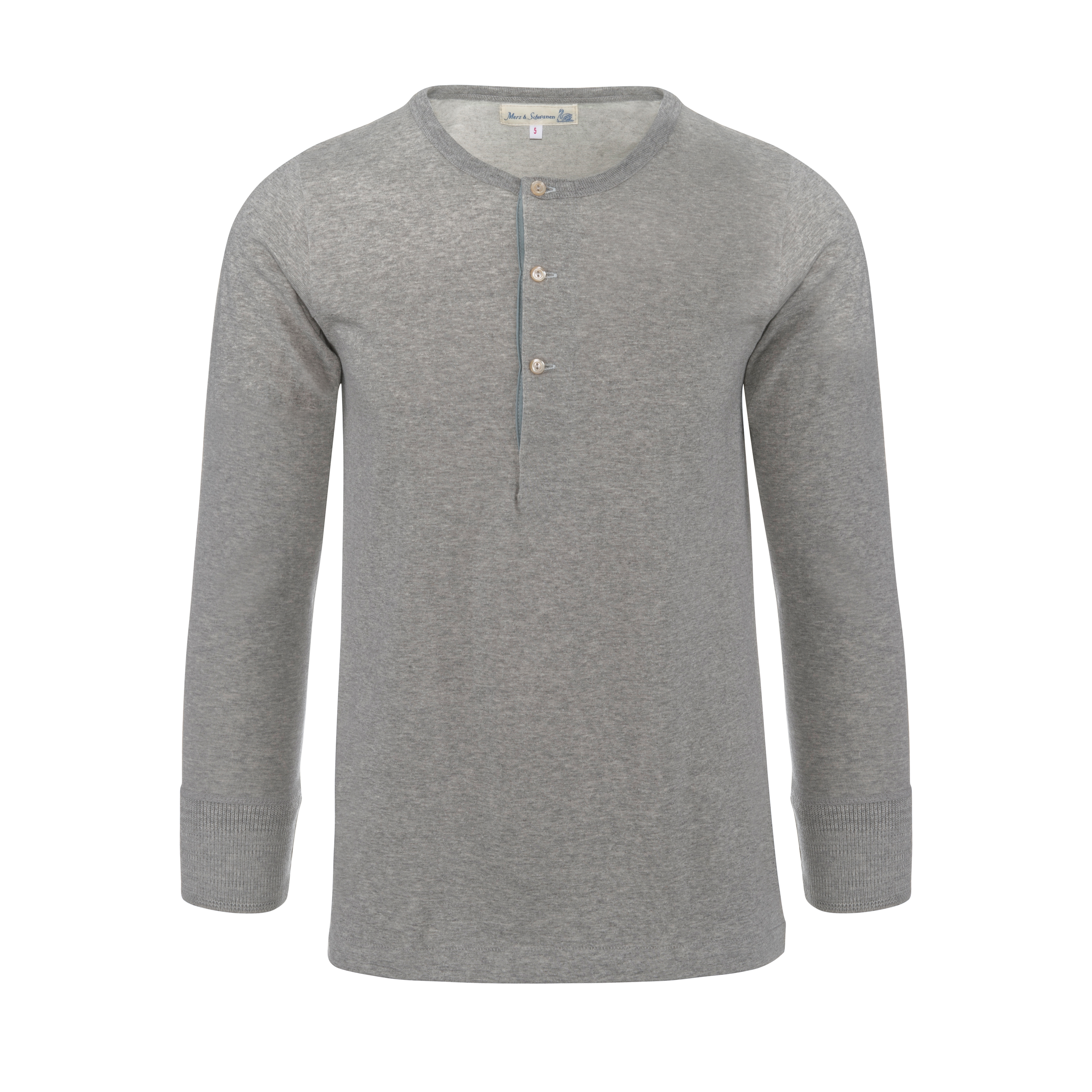 Henley 206 Longsleeve Grey Melange