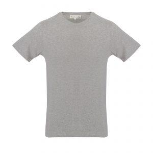 Crew Neck 1950s T-Shirt Grey Melange