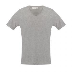 V-Neck 1970s T-Shirt Grey Melange