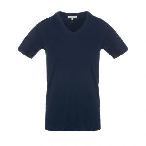 V-Neck 1970s T-Shirt Ink Blue
