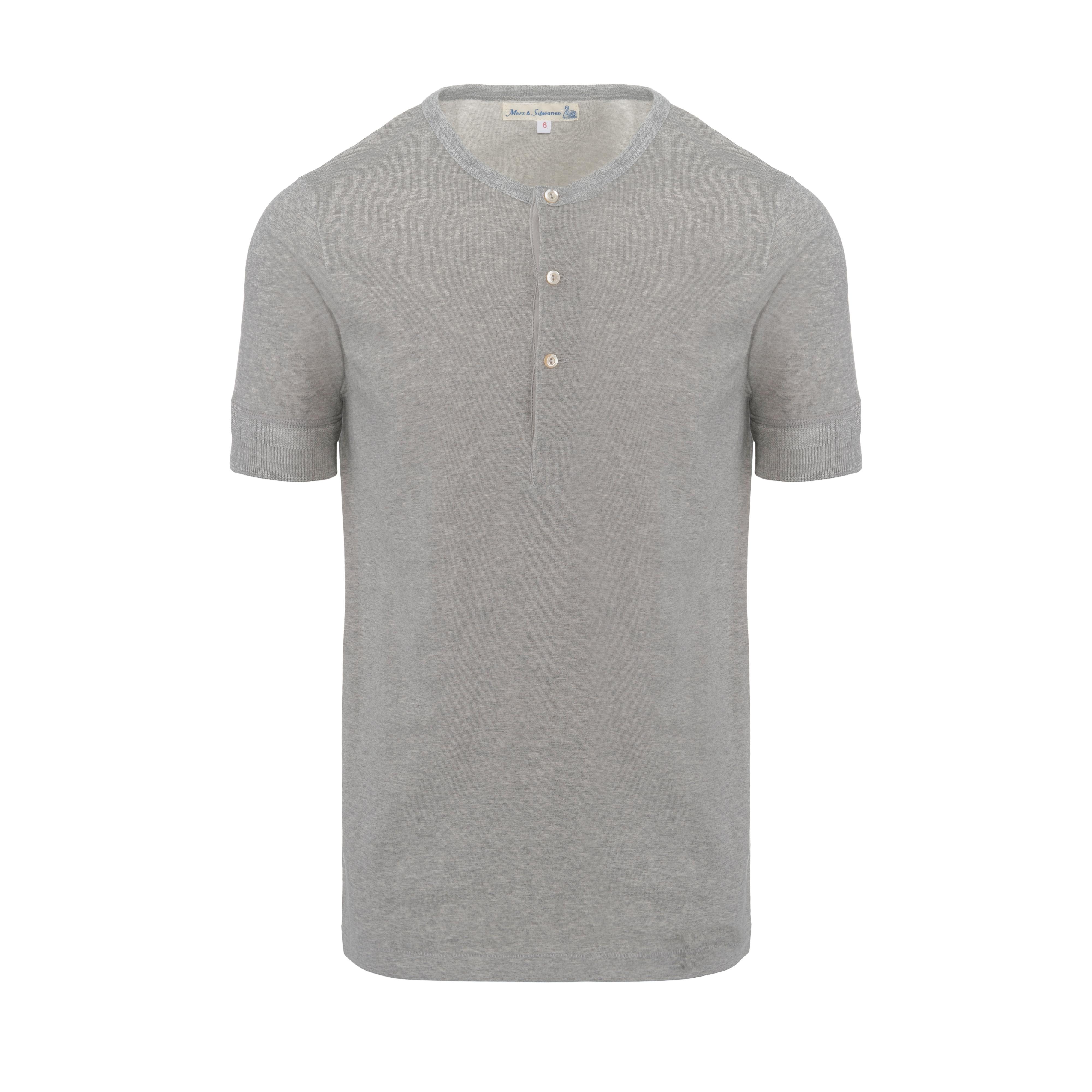 Henley 207 T-Shirt Grey Melange