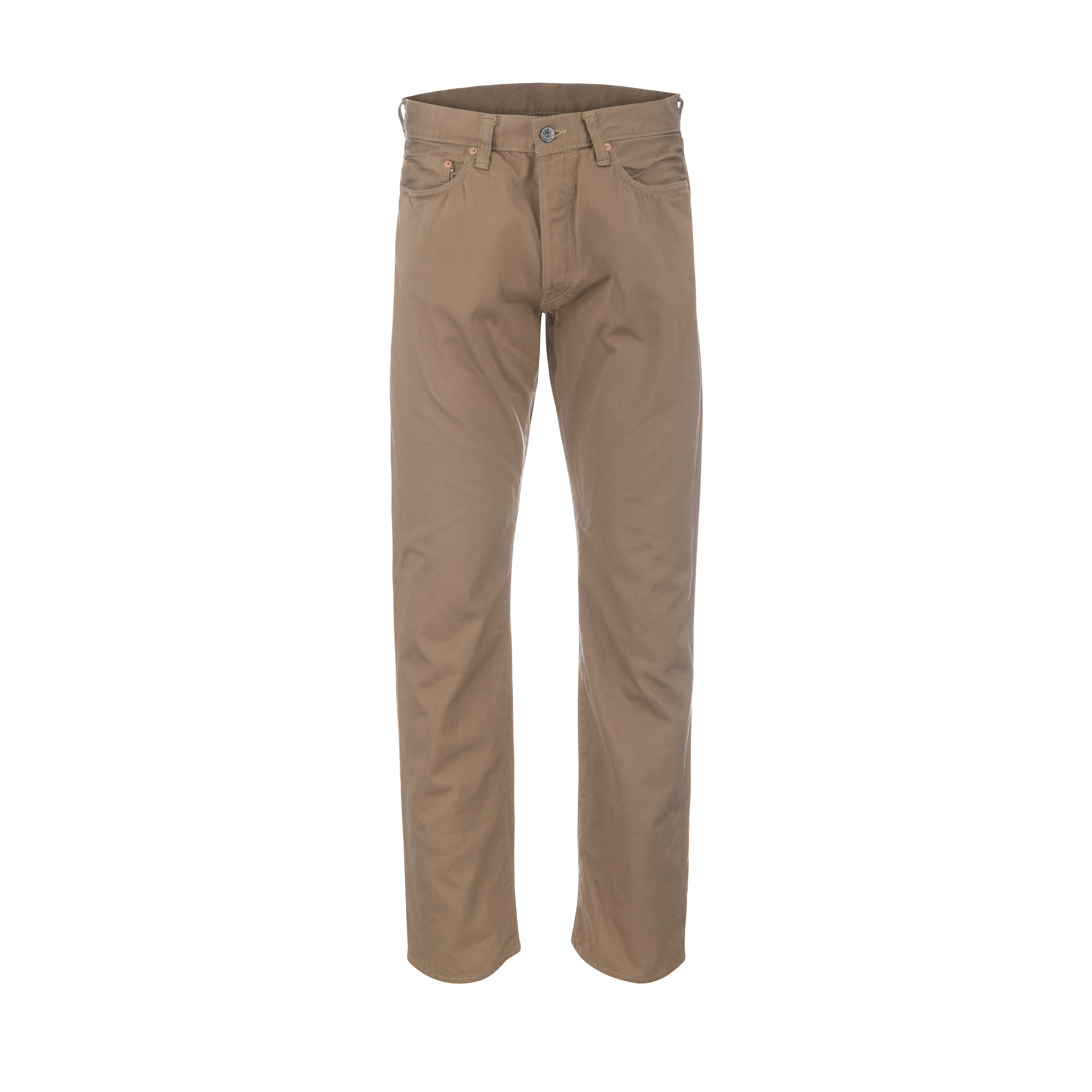 High Count West Point Selvage Chino Beige
