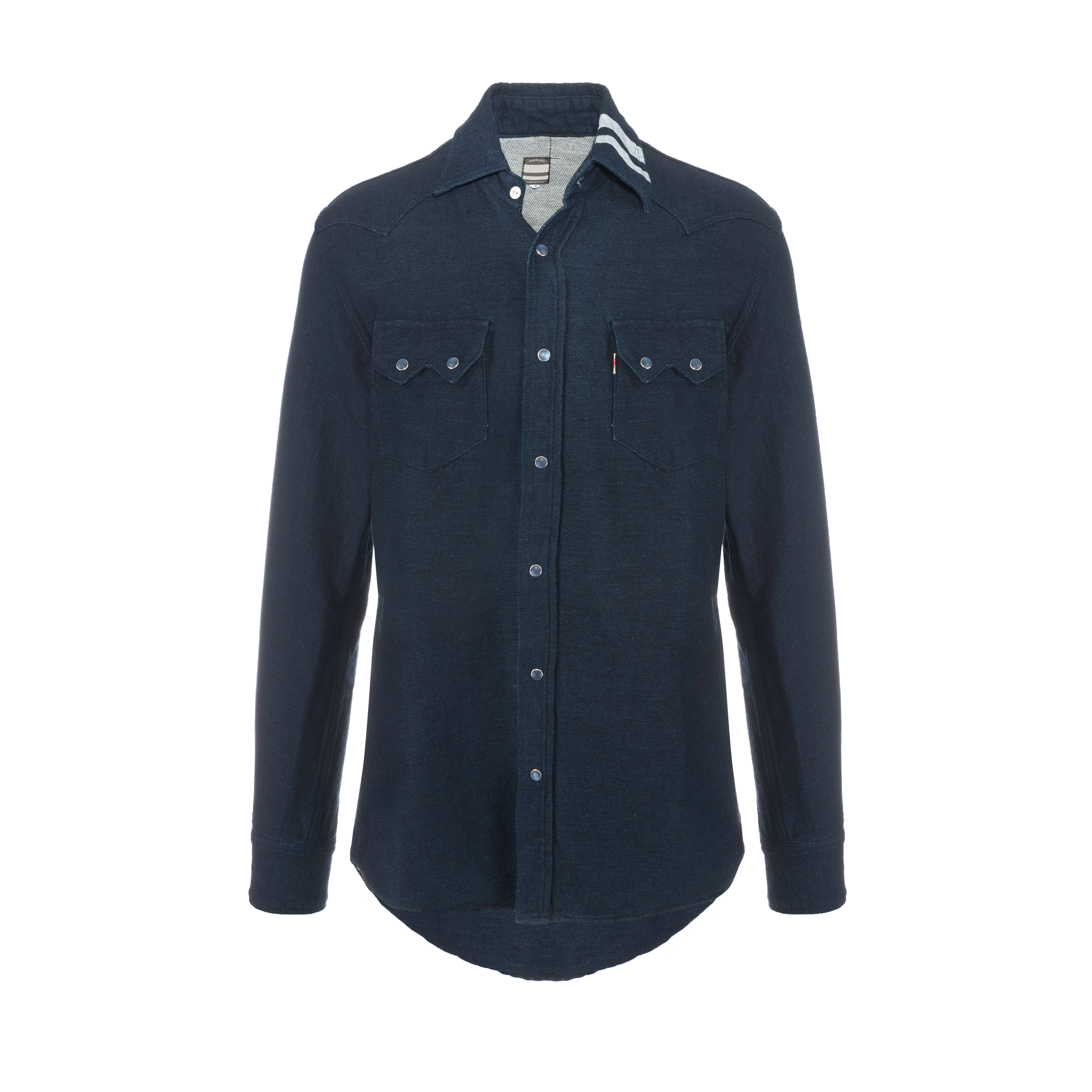 Double Weaving Work Shirt Navy