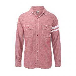 Selvage Denim Jail Pocket Shirt Red