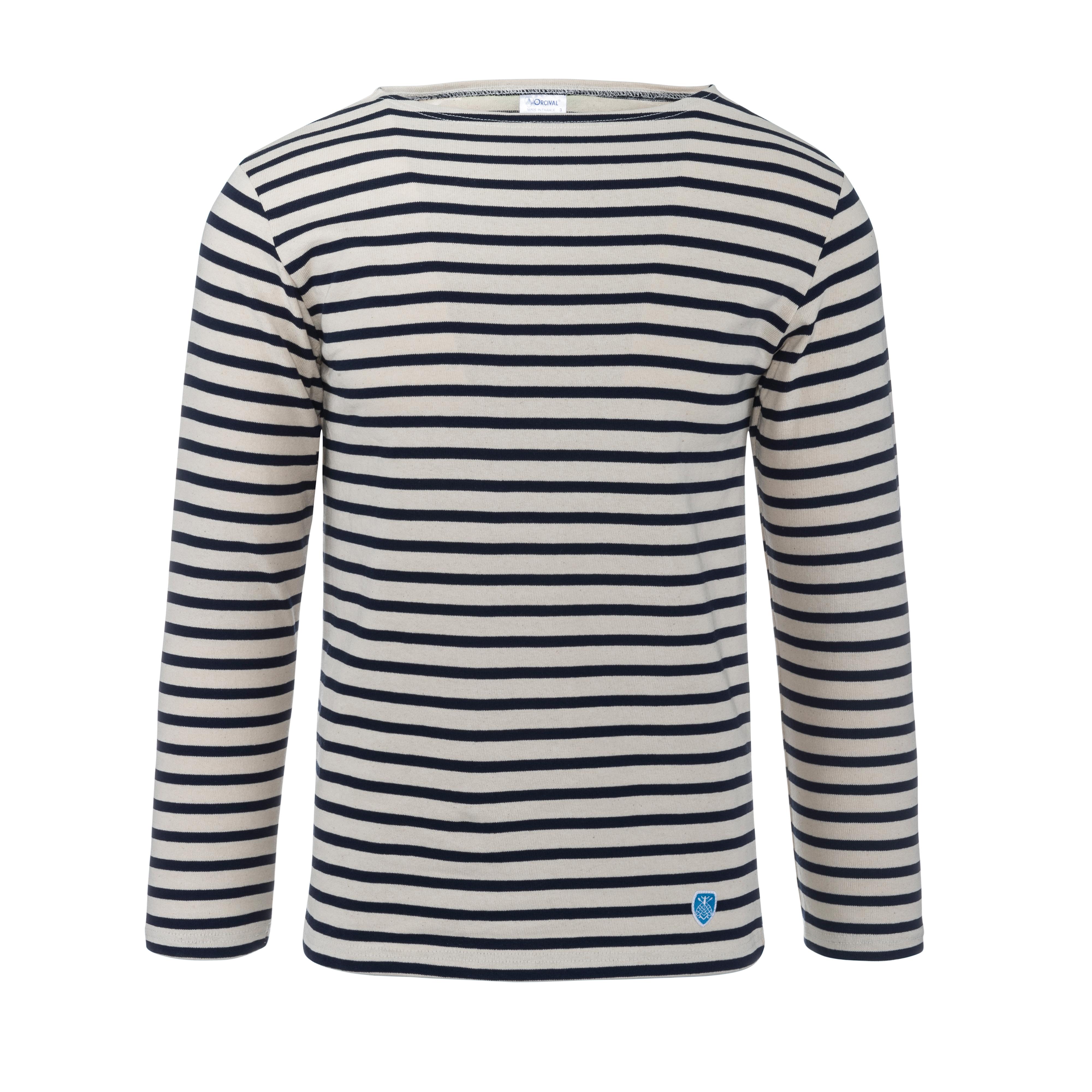Marine Shirt Longsleeve Ecru/Marine