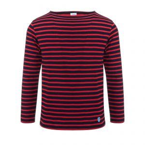 Marine Shirt Longsleeve Marine/Rouge
