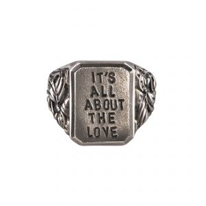 It's All About The Love Ring Silver