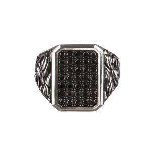 Black Diamonds Ring Silver