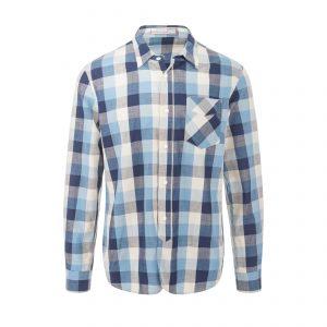 Seattle Shirt - Blue Gingham Check Shirt Grey/White/Blue
