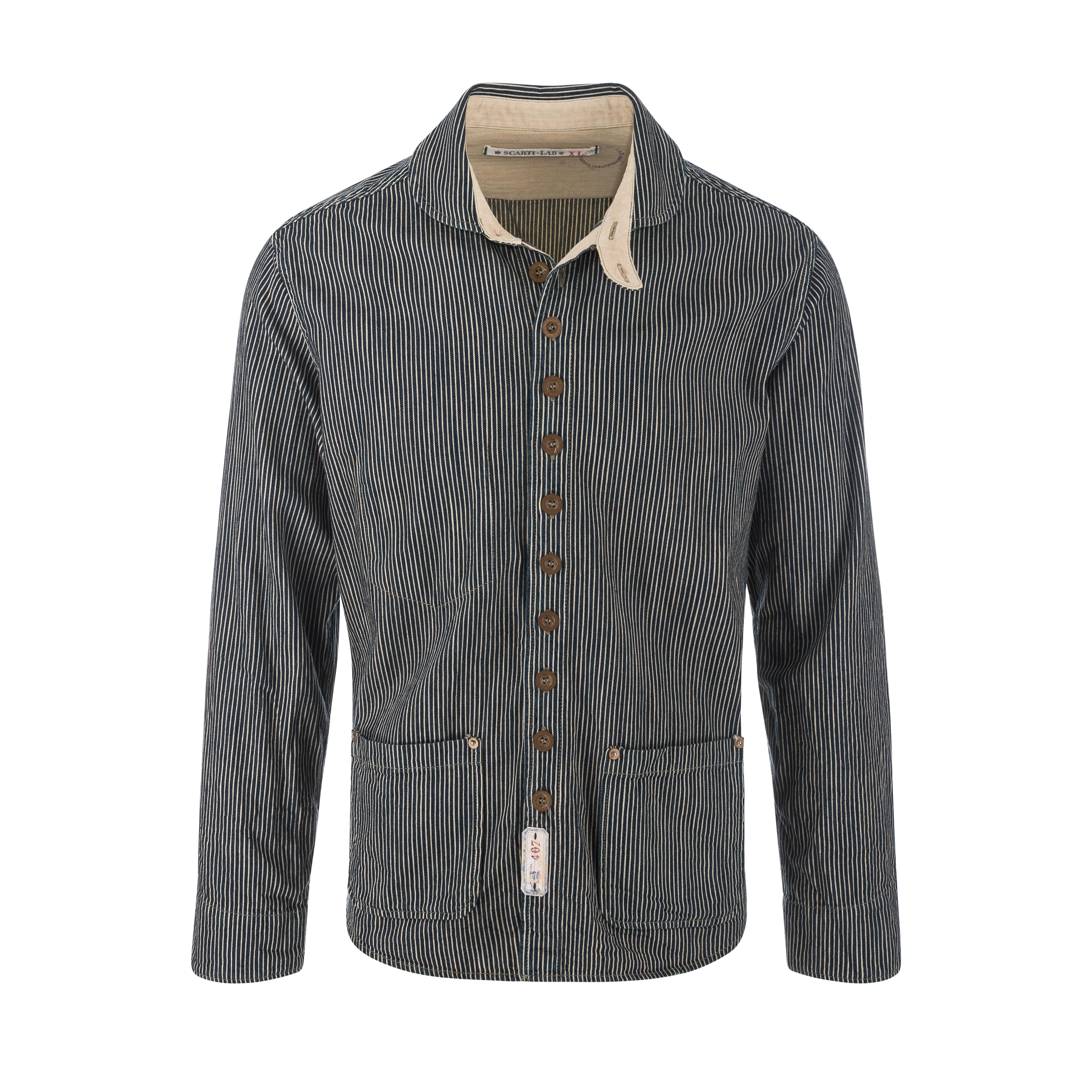 Cotton Jacket Stripe Black/White