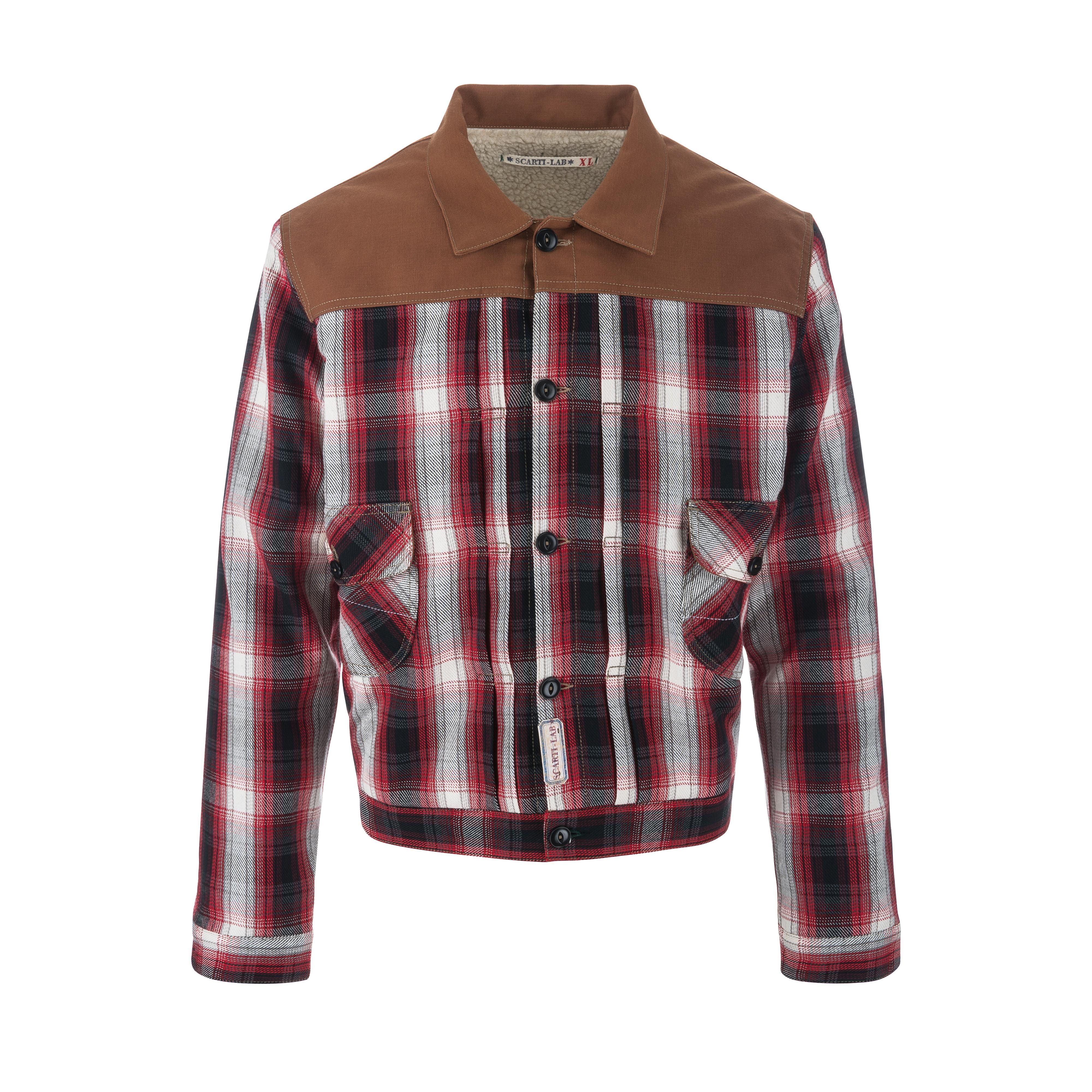 Cotton Jacket Brown/Check Black/Red/White