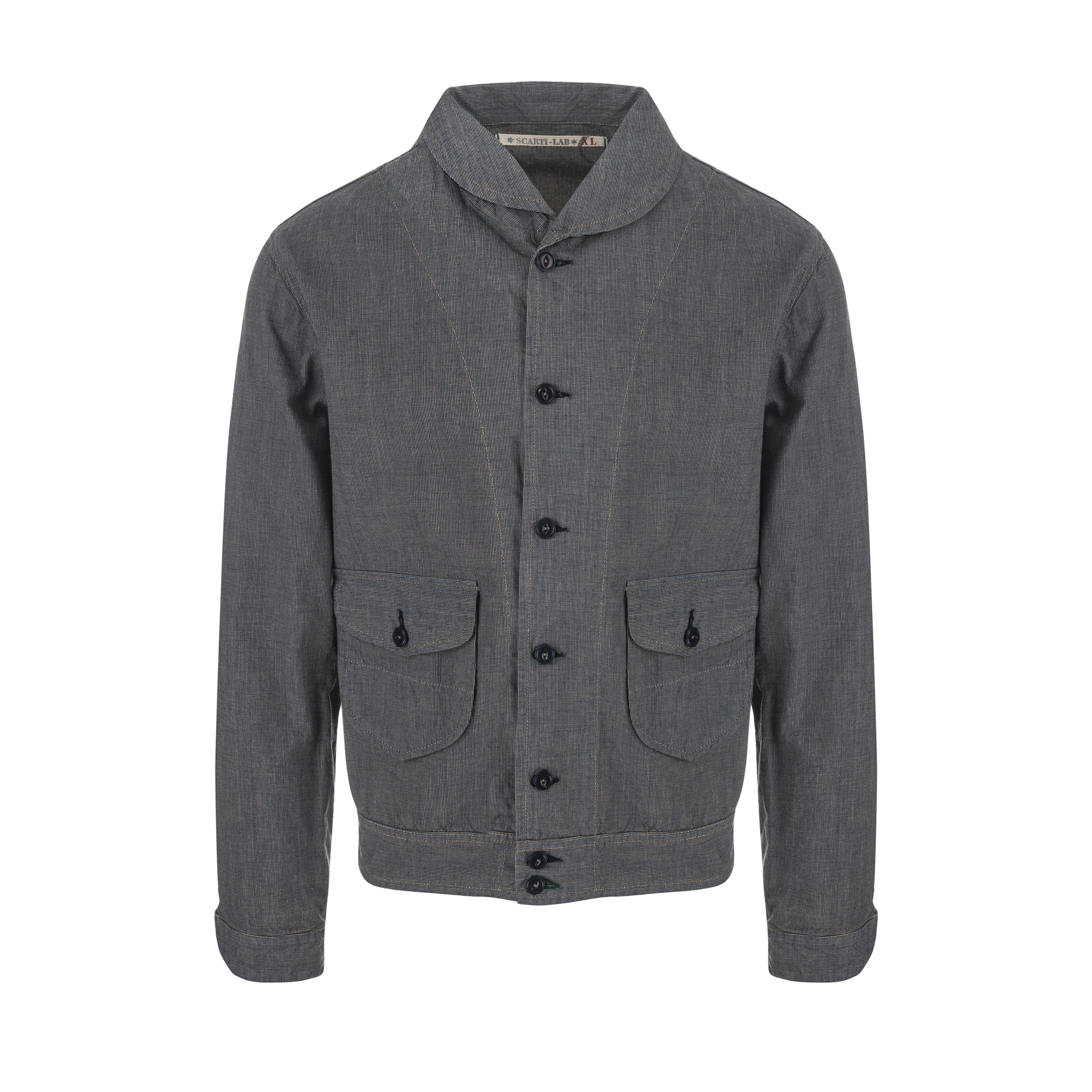 Cotton Jacket Blue/Grey