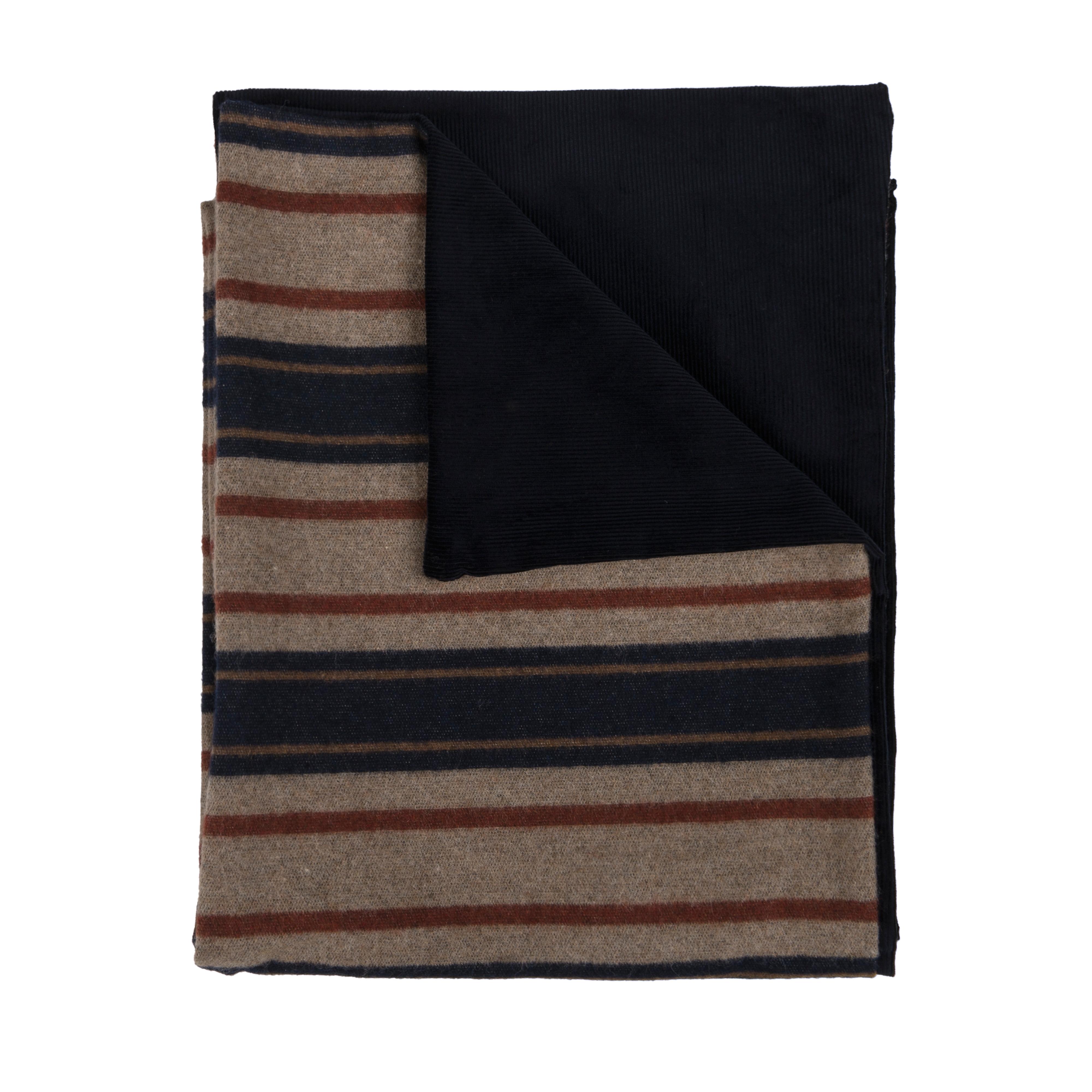 Corduroy Scarf Navy/Blanket Lined