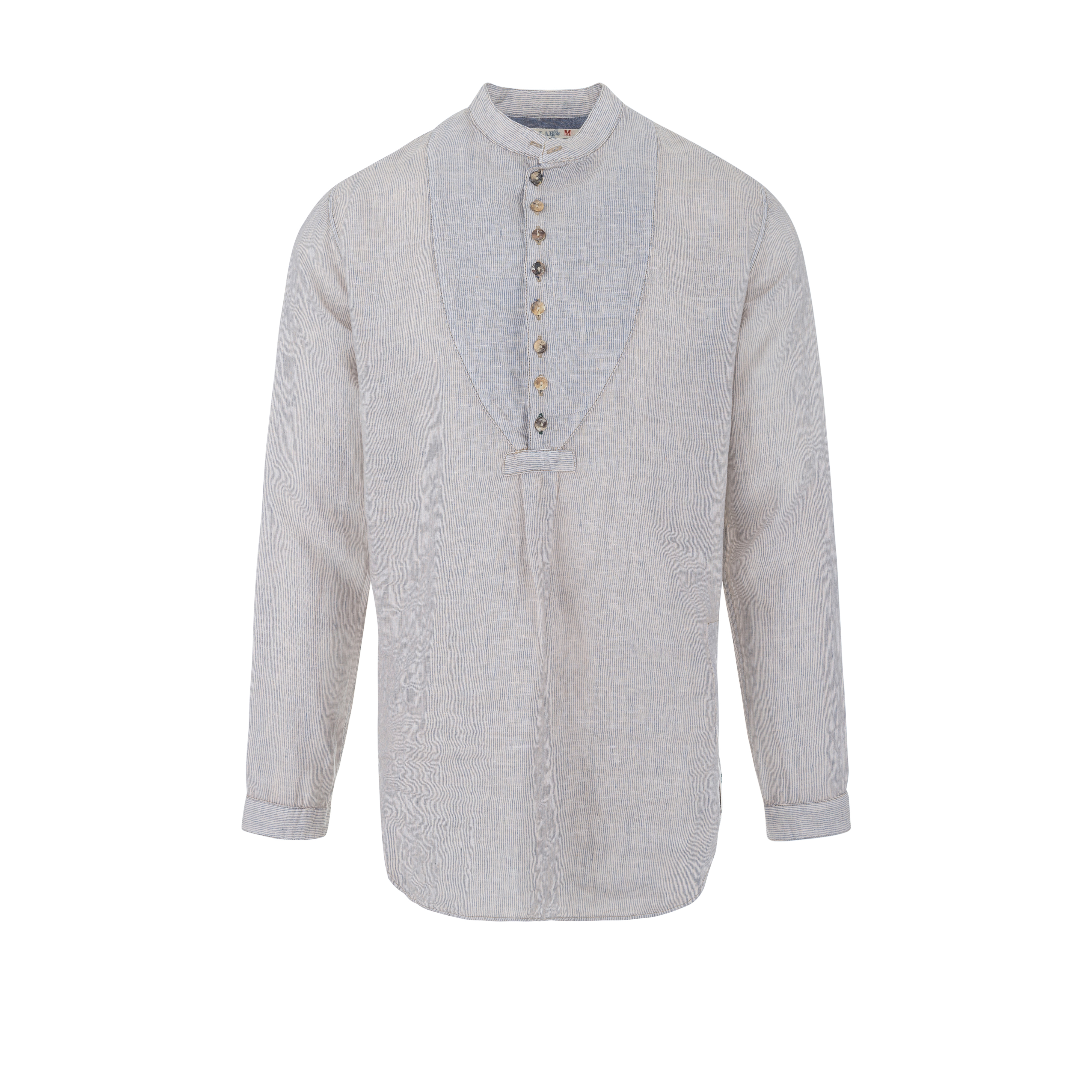 Linen Shirt Stripe Beige/Blue