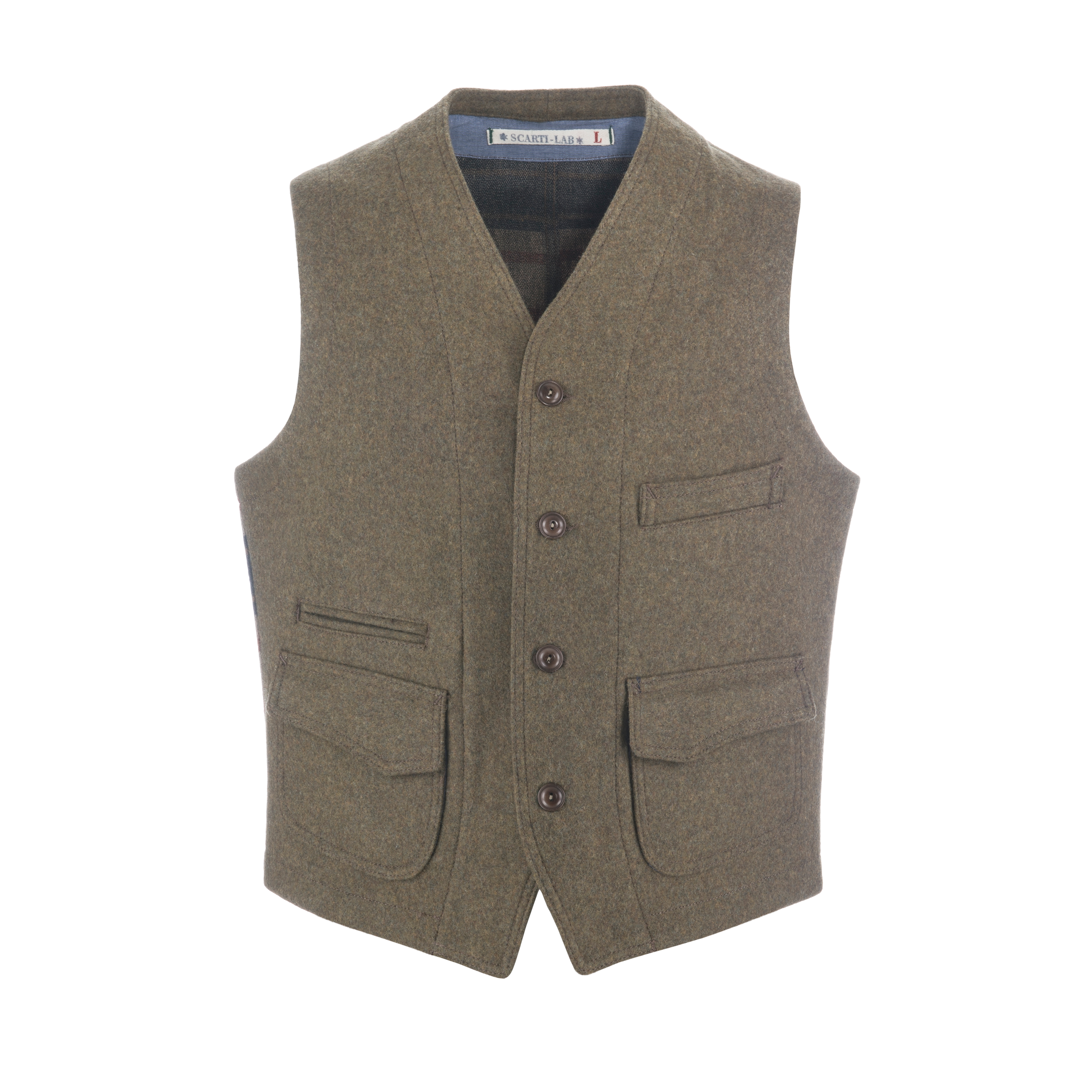 Wool Vest Beige/Blanket Lined