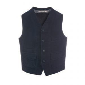 Cotton Vest Navy/Black