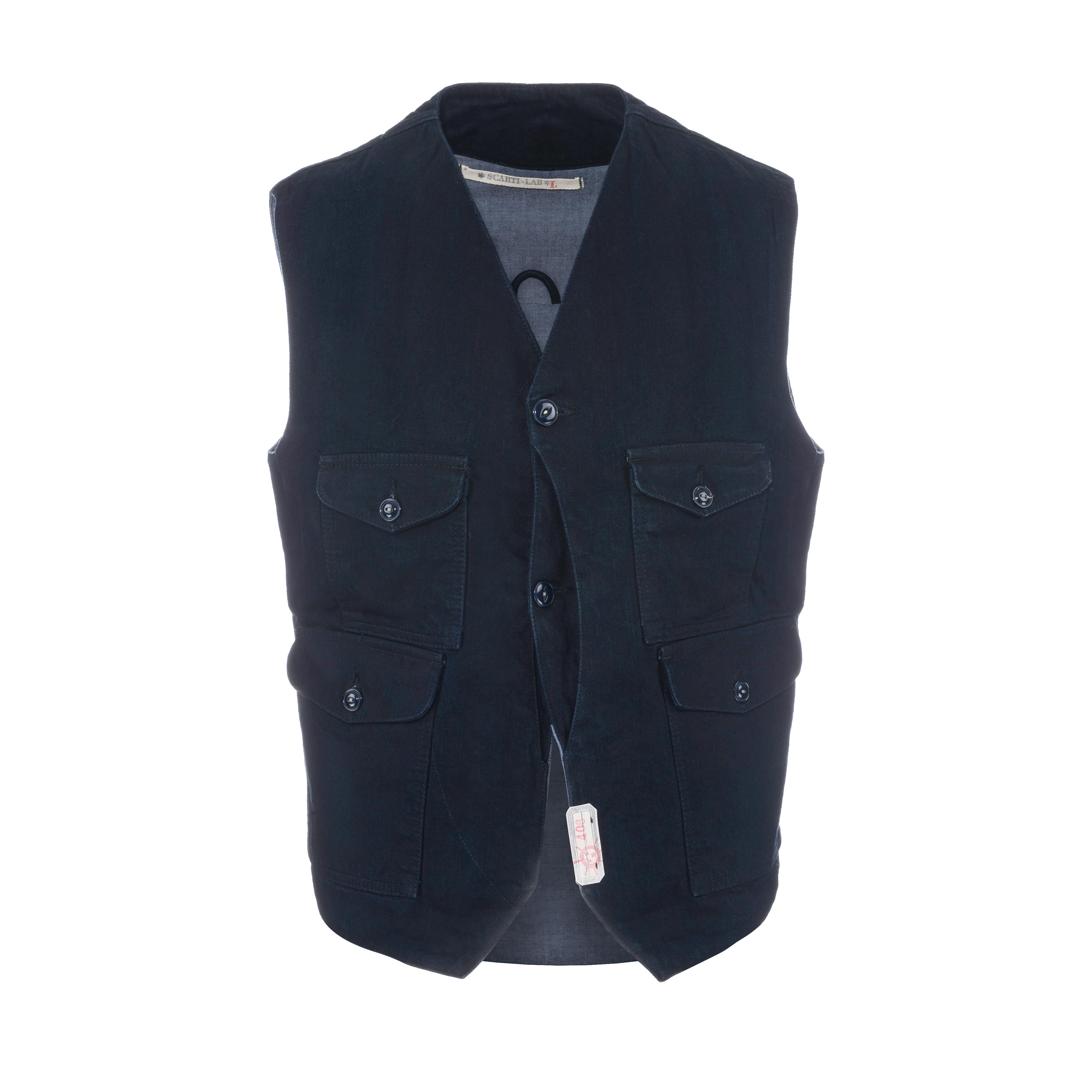 Cotton Vest Dark Navy