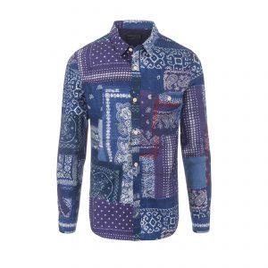 Bandana Trick-art Shirt Navy/Purple