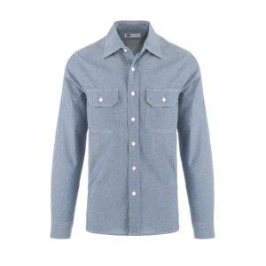 Clampdown Shirt Italian Chambray Light Blue