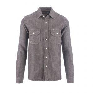 Clampdown Shirt Mouline Brown