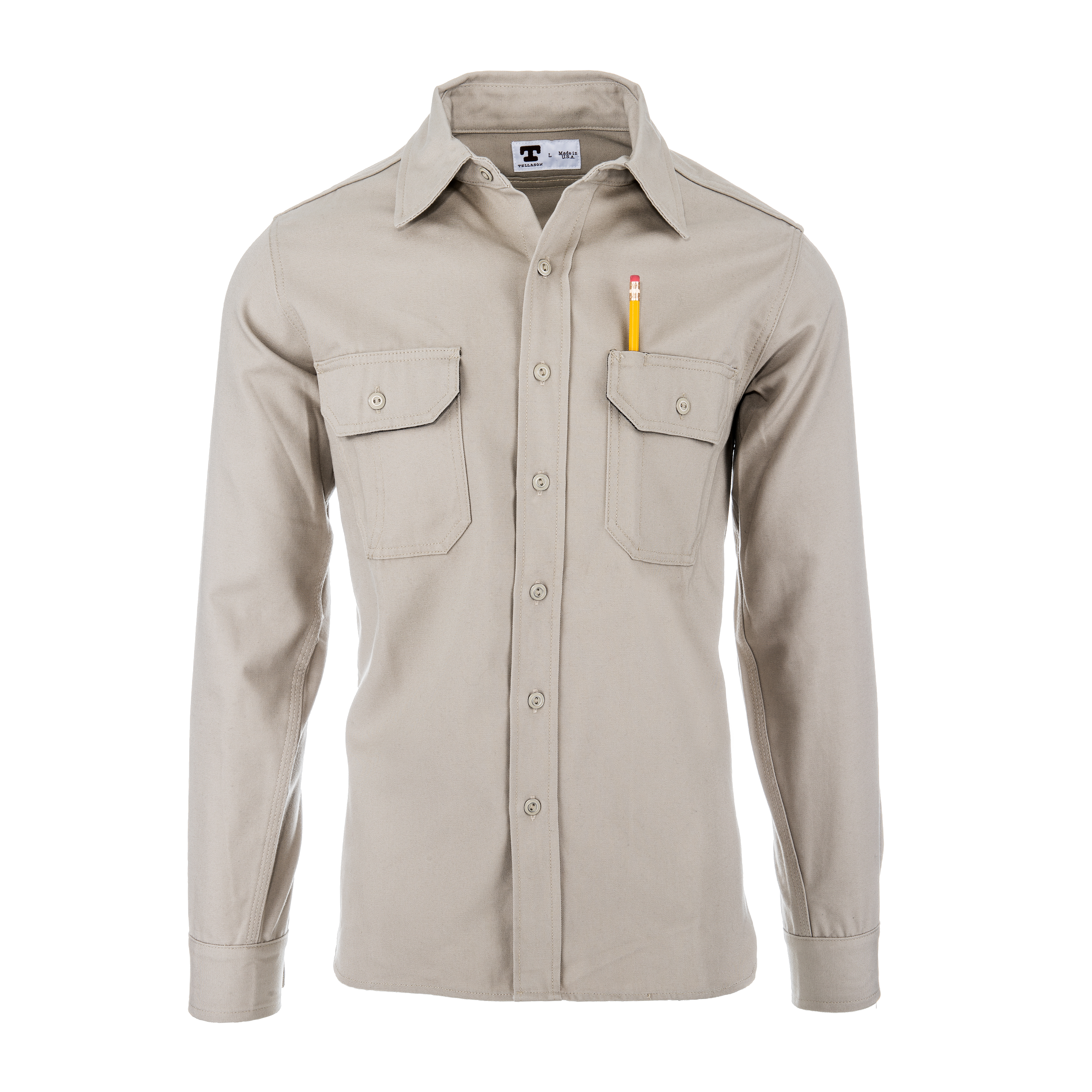 Clampdown Shirt 8oz Khaki