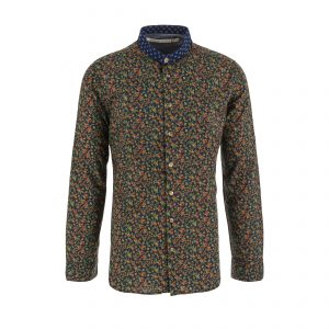 Scarti-Lab-304-SL279-Cotton-Shirt-Blue-With-Flowers-Collorfull-01-0005