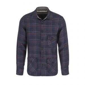 Scarti-Lab-401-SV281-Linen-Shirt-Check-Navy-Red-01-0036