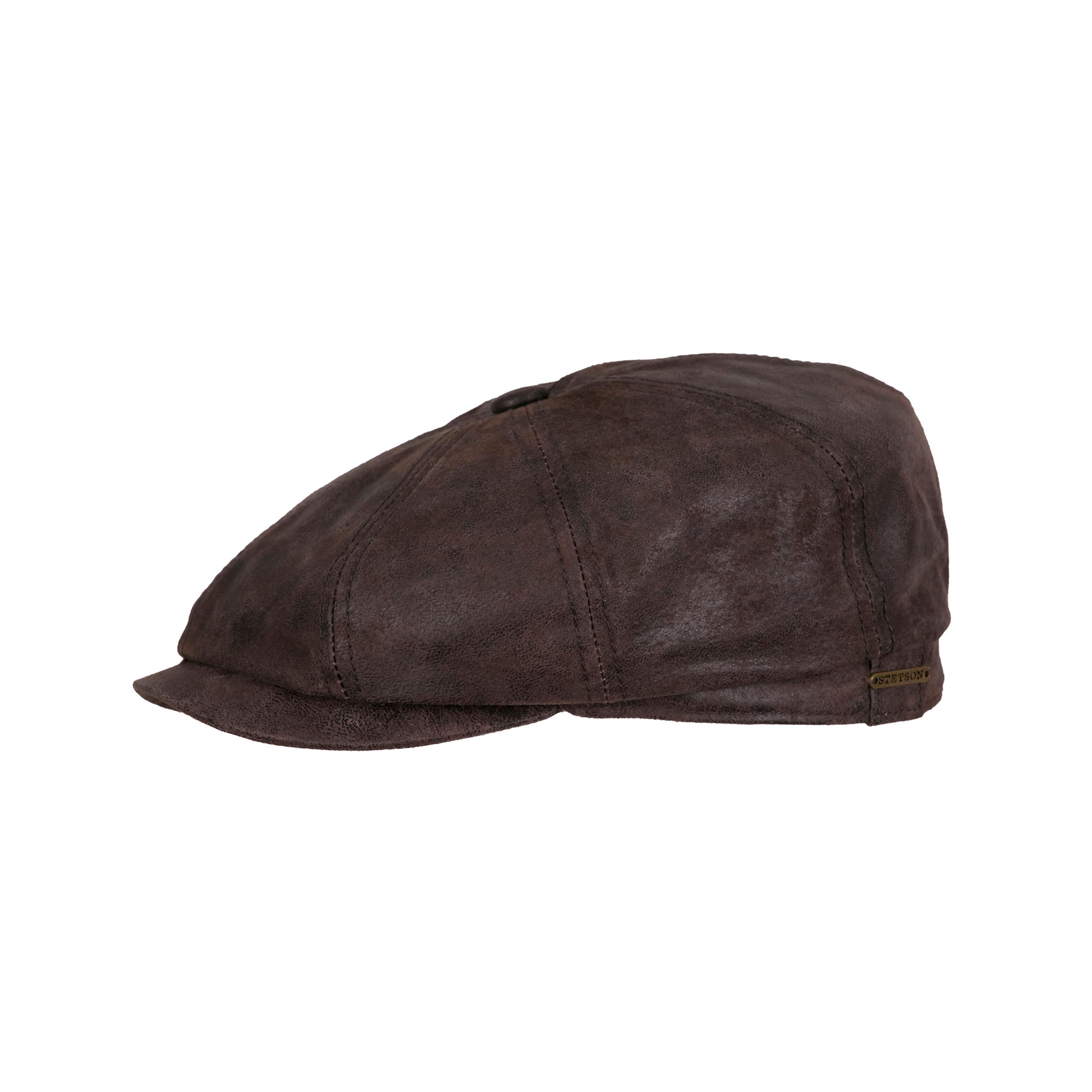 Stetson. Hatteras Pigskin Cap Dark Brown d4b35efcd99