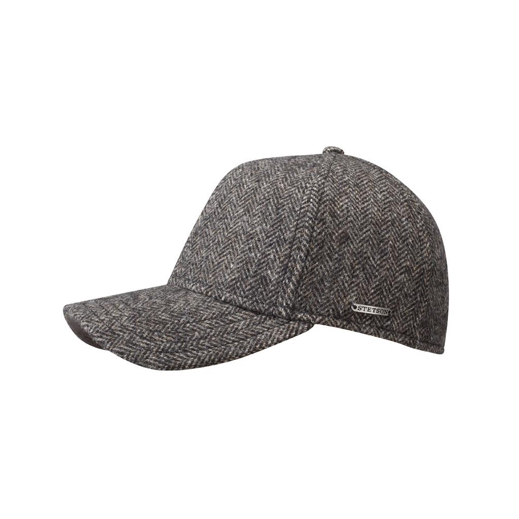 f354f08337aa2d Stetson. California Plano Woolrich Herringbone Baseball Cap Grey