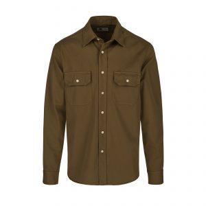 Tellason-Clampdown-Cotton-Shirt-Mustard-01-6