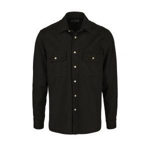 Tellason-Clampdown-Cotton-Shirt-Olive-01-4