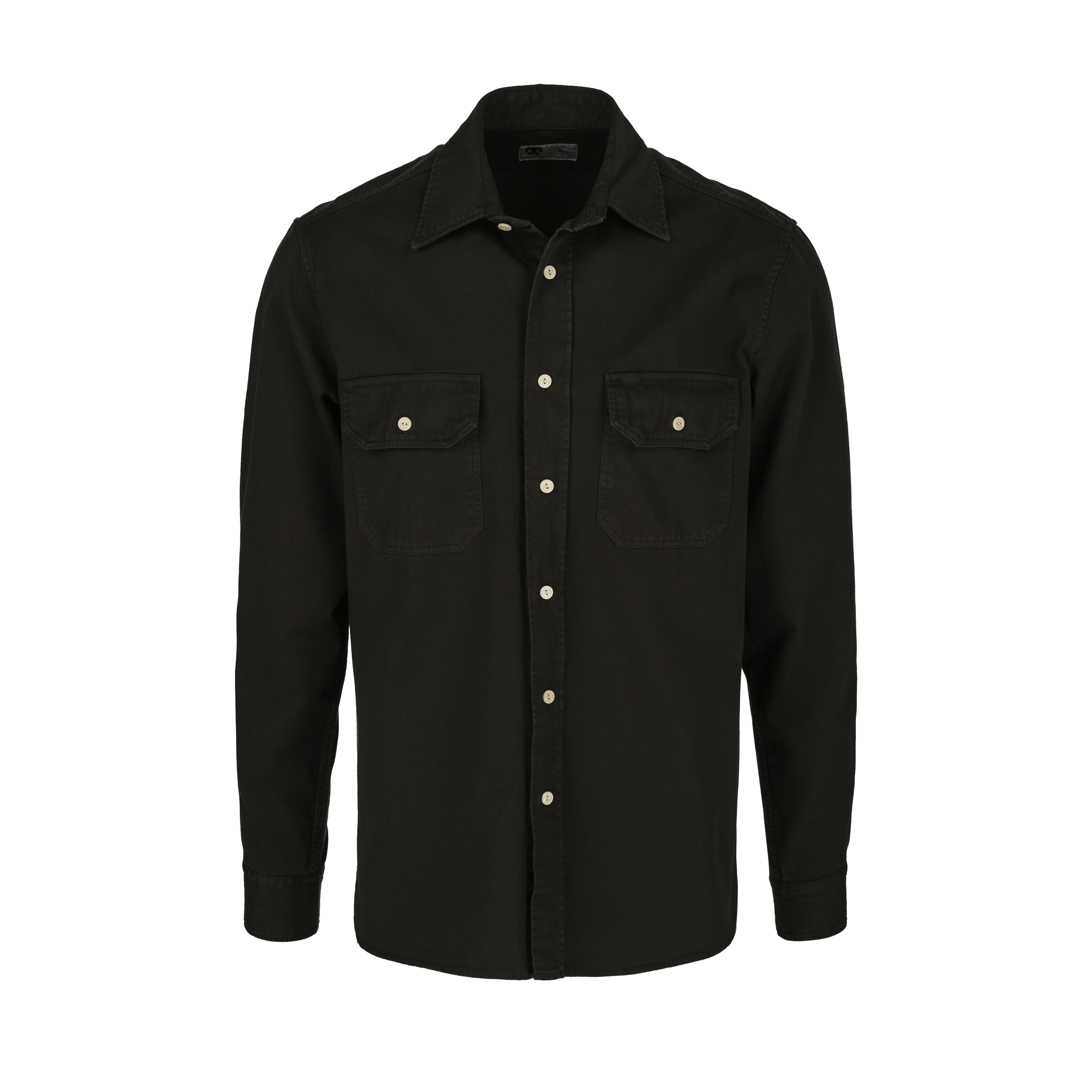 546b9a18bfc Tellason. Clampdown Twill Shirt Olive