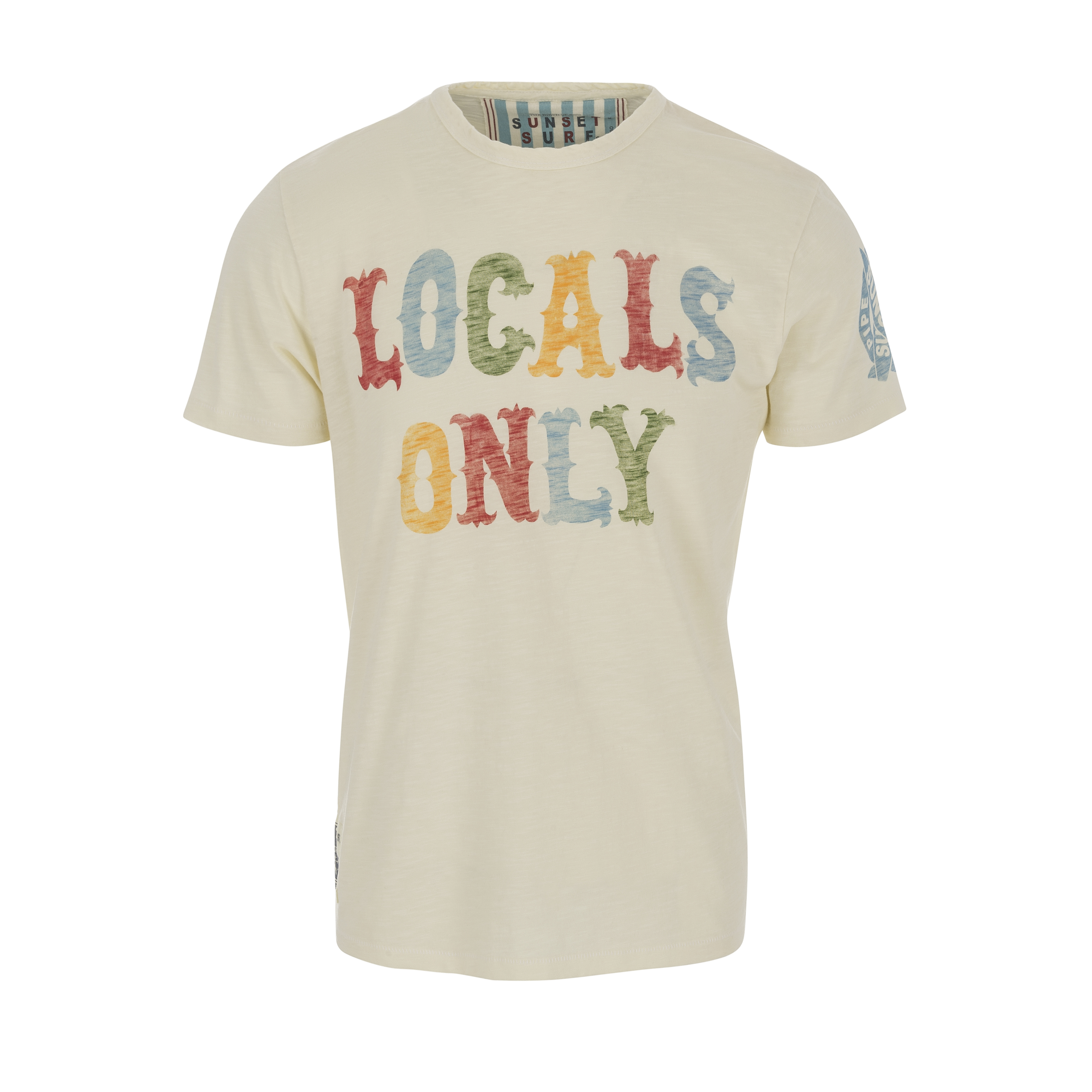T-Shirt Locals Only Dirty White