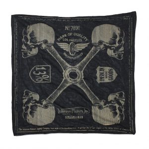 Johnson-Motors-Bandana-BN55317-Four-Points-Black