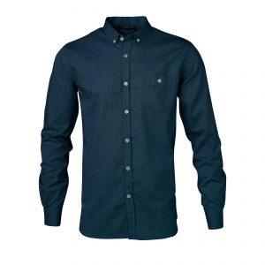 Knowledge-Cotton-Button- Down-Oxford-Shirt-Total Eclipse-90312-1001-01