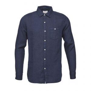 Knowledge-Cotton-Shirt-Garment-Dyed-Linen-Shirt-navy-90550-1001-01