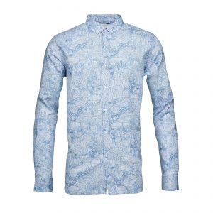 Knowledge-Cotton-all-over-waste-printed-shirt-placid-blue-90589-1174-01