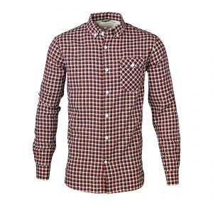 Knowledge-Cotton-checked-button-down-shirt-red-white-black-90333-1158-01