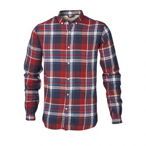 Knowledge-Cotton-checked-button-down-shirt-red-white-blue90428-1179-01