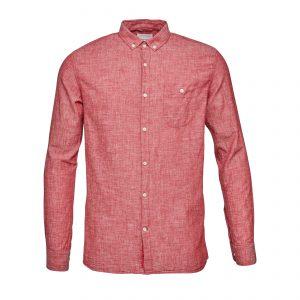 Knowledge-Cotton-cotton-linen-shirt-gots-high-risk-red-90571-1205-01