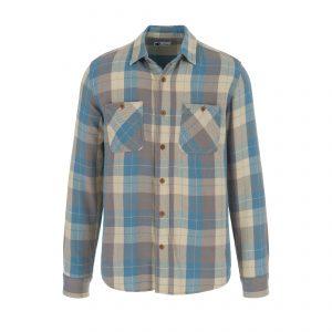 Tellason-Shirt-Utility-Flannel-Shirt-Blue-Beige-0084-1